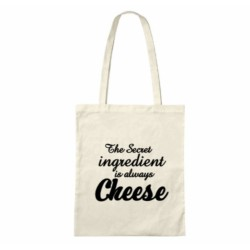 The Secret Ingredient Is Always Cheese - Cheese Themed Cotton Tote Bag